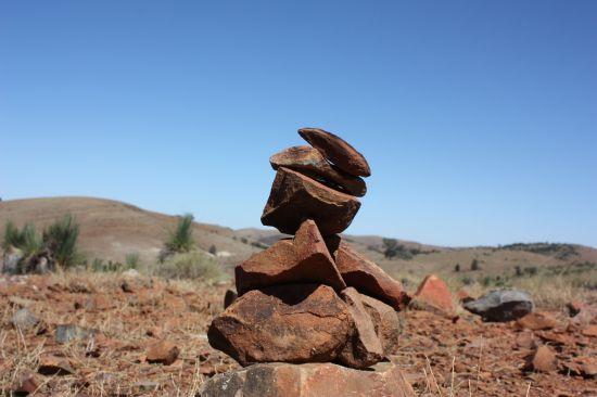 Inukshuk in Flinders Ranges