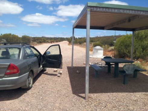 Whyalla to Cowell - rest zone by Lincoln Highway